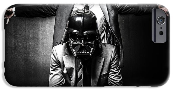 Storm Photographs iPhone Cases - Star Wars Suit Up iPhone Case by Marino Flovent