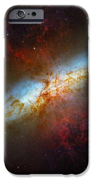 Starburst Galaxy M82 iPhone Case by Don Hammond