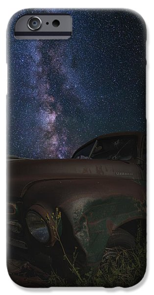 Old Truck iPhone Cases - Stardust and Rust  Studebaker iPhone Case by Aaron J Groen
