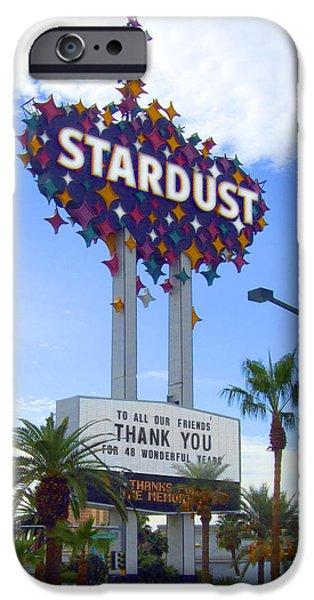 Las Vegas Art iPhone Cases - Stardust Sign iPhone Case by Mike McGlothlen