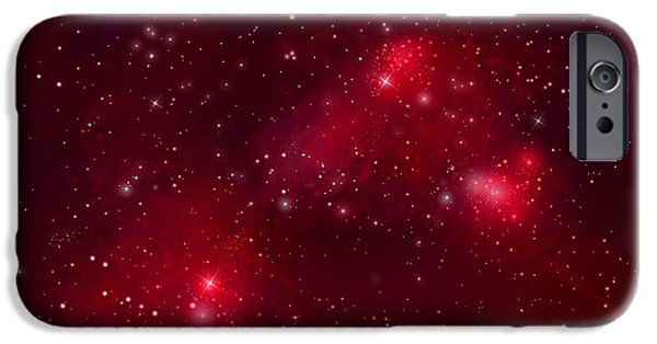 Jet Star Mixed Media iPhone Cases - Starfield No.122912b iPhone Case by Marc Ward