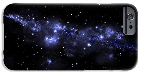 Jet Star Mixed Media iPhone Cases - Starfield No.51713 iPhone Case by Marc Ward