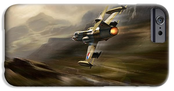 Wwi iPhone Cases - Starfighter iPhone Case by Peter Van Stigt