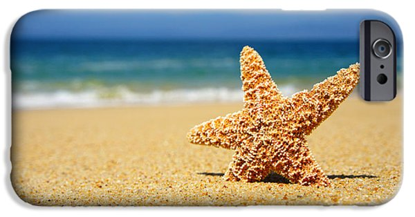 Starfish iPhone Cases - Starfish iPhone Case by Aged Pixel