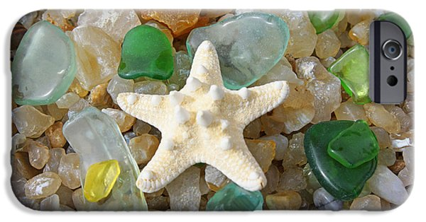 Corporate Photographs iPhone Cases - Starfish Fine Art Photography Seaglass Coastal Beach iPhone Case by Baslee Troutman
