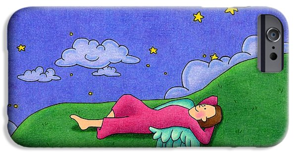 Night Angel iPhone Cases - Stargazer iPhone Case by Sarah Batalka