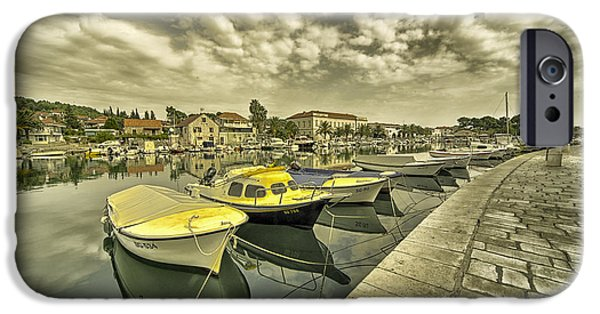 Staris iPhone Cases - Stari Grad Reflections  iPhone Case by Rob Hawkins