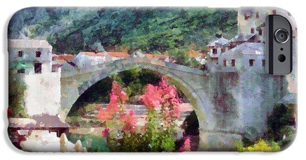 Staris iPhone Cases - Stari Most u Mostaru iPhone Case by Ramo Sabanovic