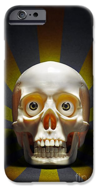 Creepy iPhone Cases - Staring Skull iPhone Case by Carlos Caetano