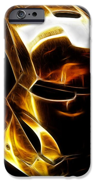 United iPhone Cases - Stark Suit III - Fractal iPhone Case by Ricky Barnard