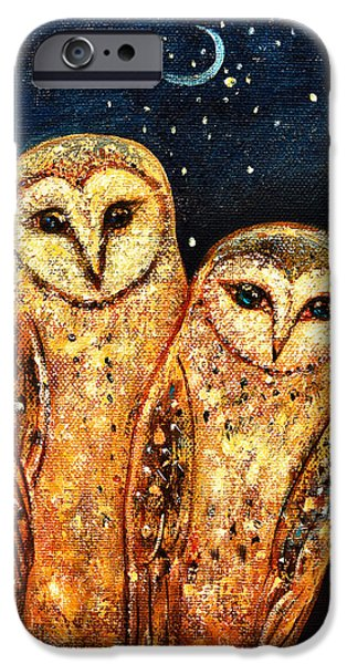 Starlight Owls iPhone Case by Shijun Munns