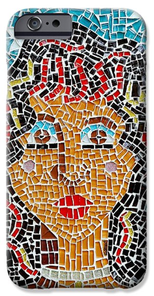 Tiled Glass iPhone Cases - Starry Eyed iPhone Case by Caroline Street