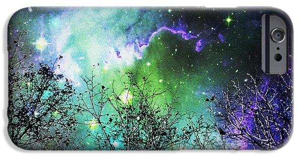 Nebula iPhone Cases - Starry Night iPhone Case by Anastasiya Malakhova