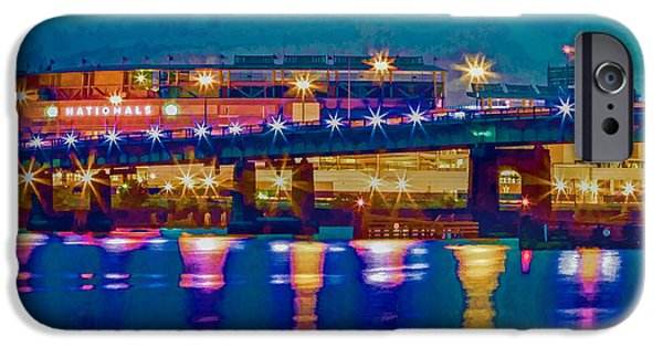 Frederick Douglass iPhone Cases - Starry Night at Nationals Park iPhone Case by Jerry Gammon