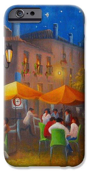 Starry Night Cafe Society iPhone Case by Joe Gilronan