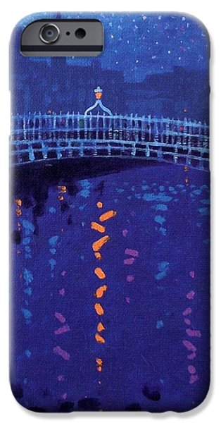 Starry Night In Dublin iPhone Case by John  Nolan