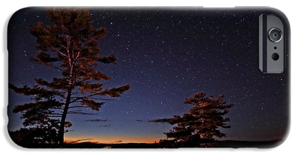 Ursa Minor iPhone Cases - Starry Night in Northern Ontario iPhone Case by Charline Xia