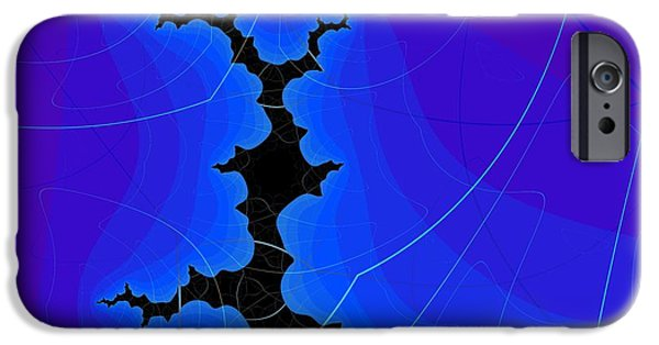 Fractal Other Worlds iPhone Cases - Starry Night iPhone Case by Janette Maher