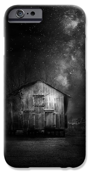 Sheds iPhone Cases - Starry Night iPhone Case by Marvin Spates