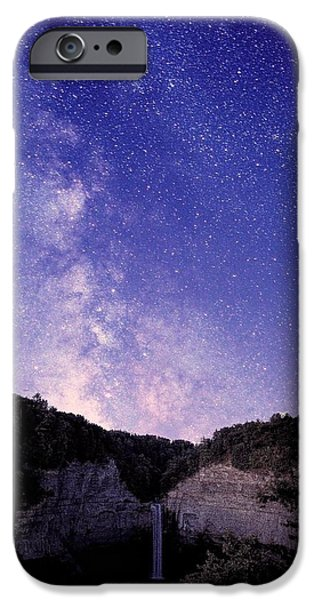 Taughannock Falls State Park iPhone Cases - Starry Night Of Taughannock Waterfalls iPhone Case by Paul Ge