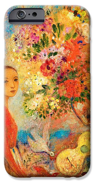 Young Mixed Media iPhone Cases - Starry Night iPhone Case by Shijun Munns