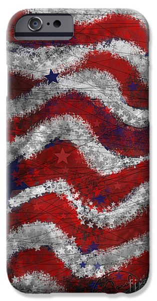 Starry Stripes iPhone Case by Carol Jacobs
