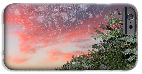 Planet Fantastic iPhone Cases - Starry Sunset iPhone Case by Augusta Stylianou