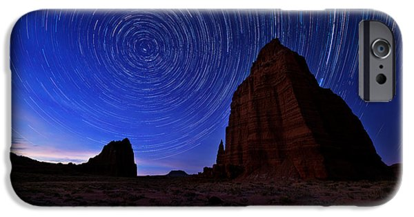 Capitol iPhone Cases - Stars Above the Moon iPhone Case by Chad Dutson