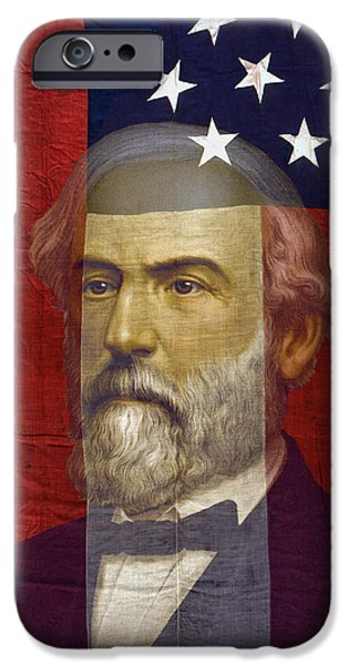 D.c. Digital iPhone Cases - STARS and BARS GENERAL LEE iPhone Case by Daniel Hagerman