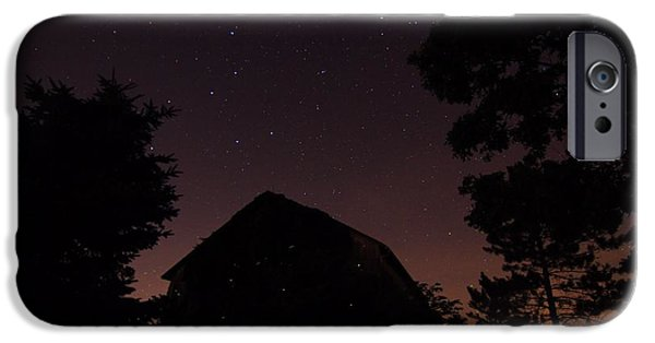 Constellations iPhone Cases - Stars And Lightning Bugs On The Farm iPhone Case by Dan Sproul