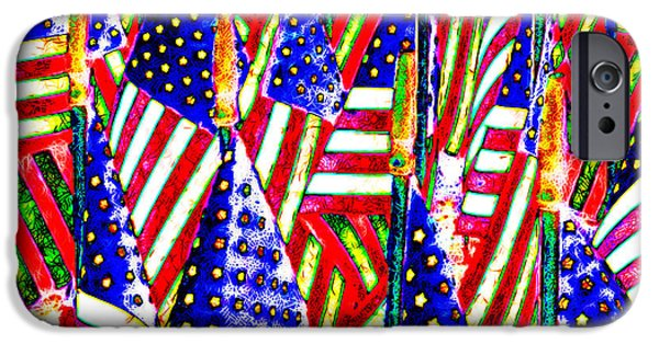 July 4th iPhone Cases - Stars and Stripes 20140821 horizontal iPhone Case by Wingsdomain Art and Photography