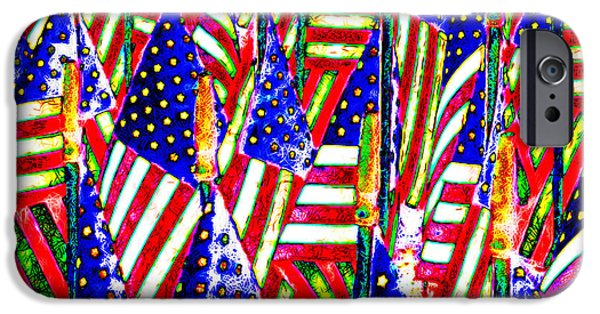 4th Of July iPhone Cases - Stars and Stripes 20140821 square iPhone Case by Wingsdomain Art and Photography