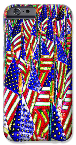 July 4th iPhone Cases - Stars and Stripes 20140821 iPhone Case by Wingsdomain Art and Photography