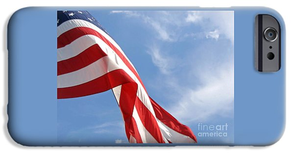 Flag iPhone Cases - Stars and Stripes iPhone Case by Ann Horn