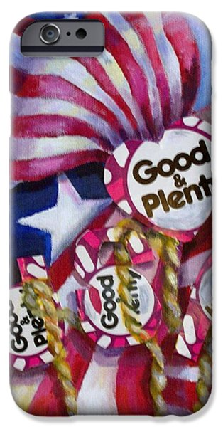 Star Spangled Banner Paintings iPhone Cases - Stars and Stripes iPhone Case by Diane Mikula