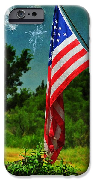 Stars and Stripes Forever iPhone Case by Karen Slagle