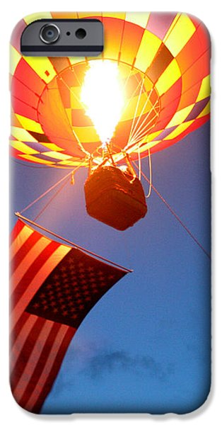 Stars and Stripes Glow iPhone Case by Paul Anderson