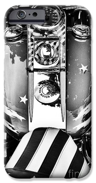 Airbrush iPhone Cases - Stars and Stripes HD iPhone Case by Tim Gainey
