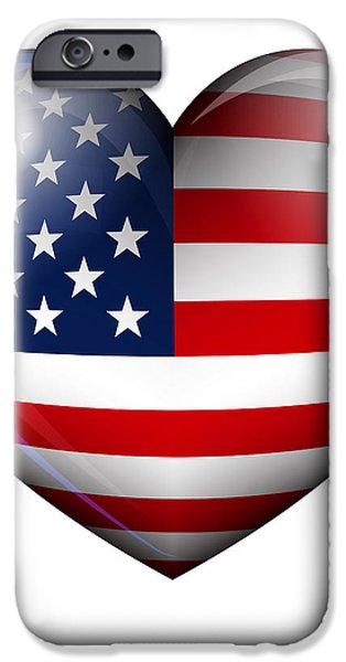 STARS and STRIPES iPhone Case by Fenton Wylam