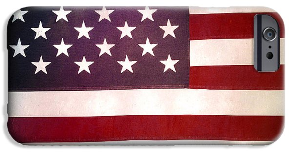 American Flag iPhone Cases - Stars and stripes iPhone Case by Les Cunliffe