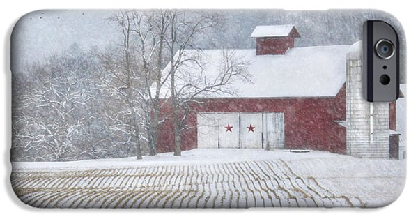 Wintry Digital iPhone Cases - Stars and Stripes iPhone Case by Lori Deiter