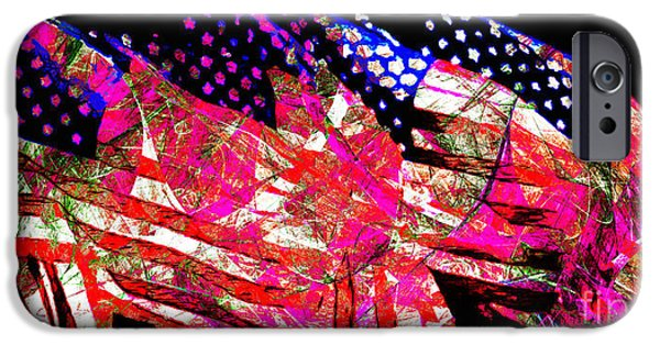 Fourth Of July iPhone Cases - Stars and Stripes of America Land of The Free 20150828 Long iPhone Case by Wingsdomain Art and Photography