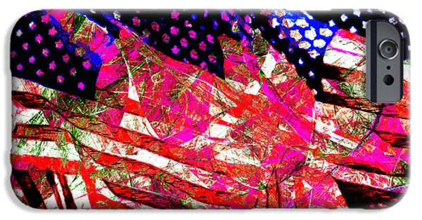 4th Of July iPhone Cases - Stars and Stripes of America Land of The Free 20150828 iPhone Case by Wingsdomain Art and Photography