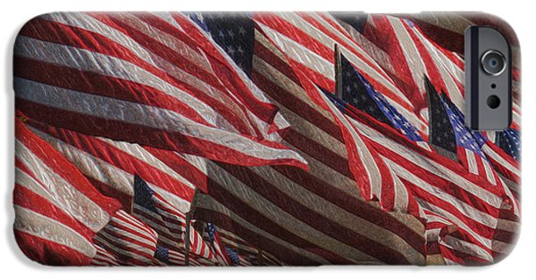 Old Glory iPhone Cases - Stars And Stripes - Remembering iPhone Case by Jack Zulli