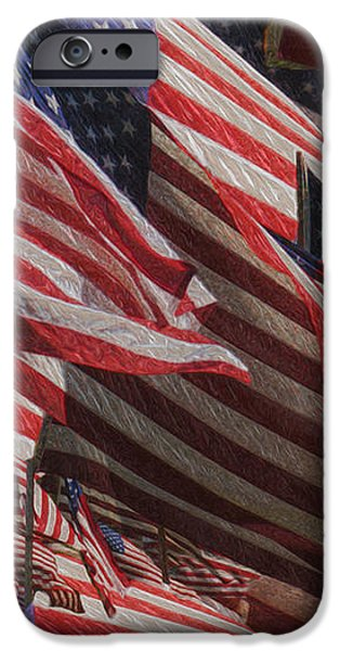 Stars And Stripes - Remembering iPhone Case by Jack Zulli