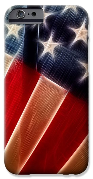 Flag iPhone Cases - Stars and Stripes iPhone Case by Tamera Seevers