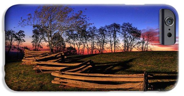 Groundhog iPhone Cases - Stars at Sunrise on the Blue Ridge iPhone Case by Dan Carmichael