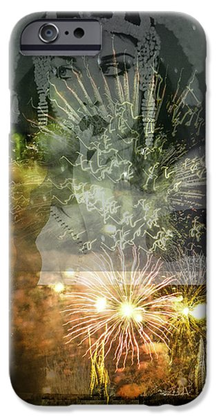 Fireworks Pyrography iPhone Cases - Stars iPhone Case by David Gonano