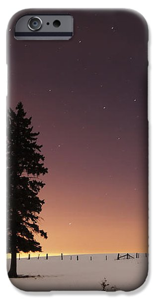 Stars In The Night Sky With Lone Tree iPhone Case by Susan Dykstra