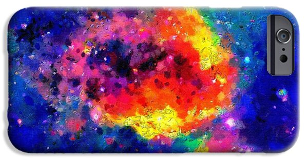 Outer Space Paintings iPhone Cases - Stars iPhone Case by Magomed Magomedagaev